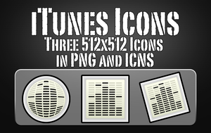 iTunes Replacement Icons by Zeptozephyr