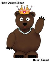 My very first illustration - Queen Bear by Dominique1212