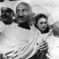 Mahatma Gandhi, and some people by SabinaNore
