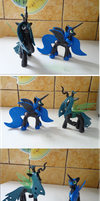 Queen Chrysalis and Fixed Nightmare Moon. by RB-Gameaddict