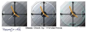 Simple glass clock by mindenhova