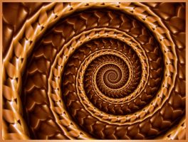 Chocolate Leather Whip Spiral by WiseWanderer