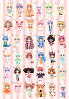 FREE ADOPTABLES SUPER MEGA BATCH *closed* by Mikabunni