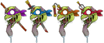 TMNT Zombified by Inked-Alpha