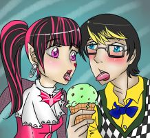 Jackson/Draculara - Delicious Mint Chocolate Chip by Kneel4Loki13