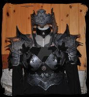 womwn leather armor valkyrie  (metal effect) by Lagueuse