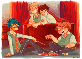 marauders hanging out by jununy