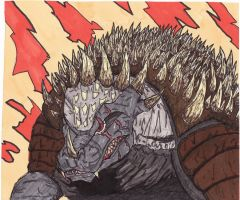 anguirus rage by Alexthehunted