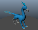 WIP Blue Gryphon by KirbytehPink
