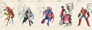 X-Men Dev: Group Ruffy by RobDuenas