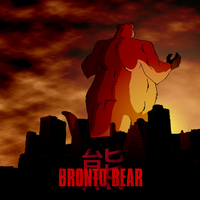 Commission - Bronto Bear Poster by BennytheBeast