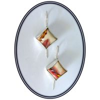 Sunset - stunning silver earrings with mookaite by YANKA-arts-n-crafts