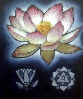 Sacred Lotus painting by loopy-dloupe
