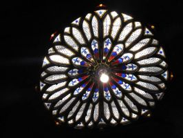 Notre dame stained glass by korovabar