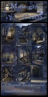 Midnight Castle backgrounds by moonchild-ljilja