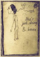 string and bones by drawingsbycharlotte