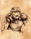 Master Chief Sketch by L-H4x3D