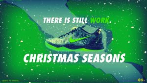 Kobe 8 CHRISTMAS Wallpaper by assasinsilent