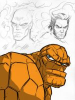 Marvel Character Sketches 1 by grantgoboom