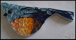 quilled bird in blue by 13vamps