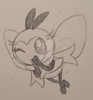 Pokemon: Ribombee (Sketch)~ by Beckitty