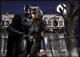 IGaU Batman and Catwoman wallpaper by EvilMaybe
