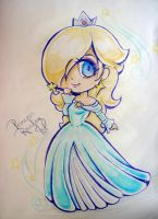 Princess Rosaline chibi traditional by JamilSC11