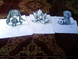 3D Drawing Collection by XenNa-Scarlet