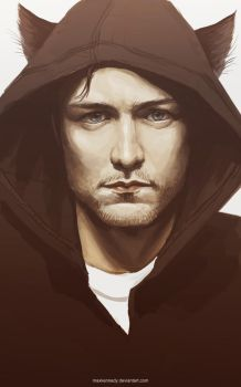 James McAvoy Cat Assassin by maXKennedy