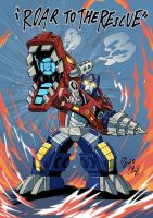 Rescue Bots Optimus Primal by weremole