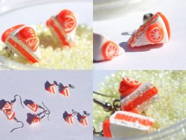 Orange Cake Slices by Shelby-JoJewelry