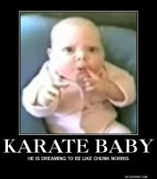 motivational poster:karate baby by demotivatonalman12