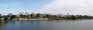 Seville view from Triana by dannishez