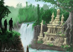 1 hour painting - Ancient Temple by SimonGangl