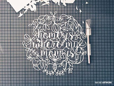 home is where my mom is _ mothers day papercut #1 by KiaSuee