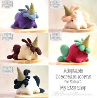 Adoptable Icecream-icorn Plush Toys by MyBeautifulMonsters