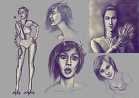 Sketchdump: Yellow-violet by Milreem