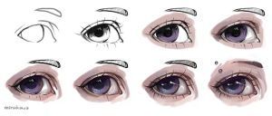 Semi Realistic Eye Tutorial by artisticxhelp
