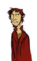 Miffed Rincewind in colour by The-French-Belphegor