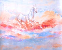 Horse in white by gfaruque