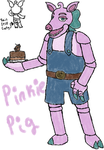 FNaF OC: Pinkie Pig (redesigned) by Kaychu-The-Gamer