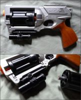 Removable Cylinder NERF Maverick - Picatinny LED by MarcWF