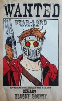 WANTED: Star-Lord AKA Peter Quill ~Paper by RidiculousRandomHero