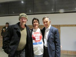 Dennis Kucinich with Jim Pate and Gail Coleman by sibzianna