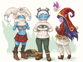 Turtleneck Yordles by Nestkeeper