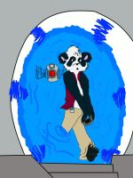 Time Traveling Panda COLORED by CaliforniaSigma