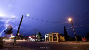 Lightning by my Door by Aquilapse