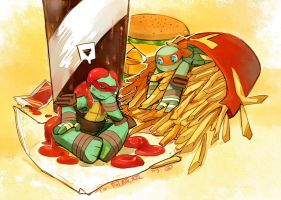 TMNT -Mikey and Raph by libramu
