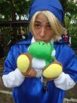Link with yoshi plushie though i block his vision by Aeon-the-time-master