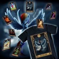 Rainbow Dash Tarot Shirt Design by SouthParkTaoist